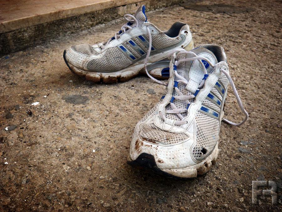 Scarpe da corsa vecchie